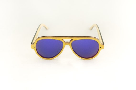 skateboard recycled sunglasses PIPE shape ! Yellow UV color #madeinfrance