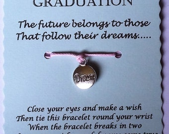 Graduation Gift, Graduation Wish Bracelet, Happy Graduation, Grad Gift, Graduation Jewelry, High School Graduation, College Graduation