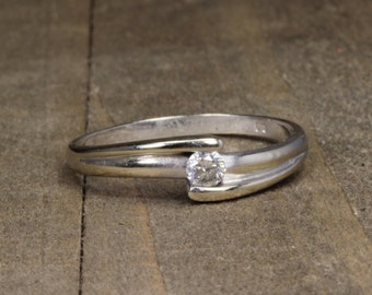 Estate, 14K White Gold Diamond Band