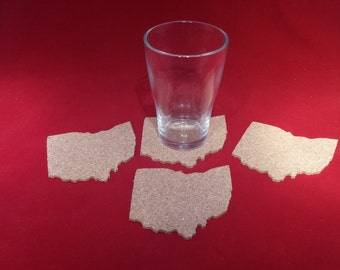 Ohio State Cork Coasters - Set of 4