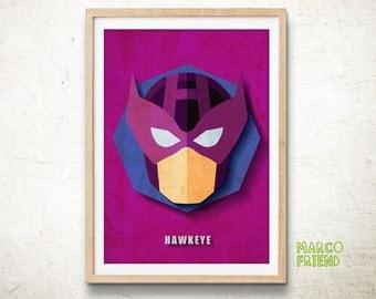 Avengers Hawkeye Art Print Poster Marvel Superhero Wall Art Kids Decor Home Decor Gifts [361]