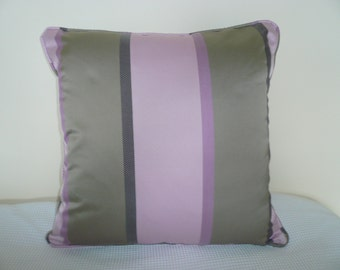Purple pillow cover,violet pillow,taupe pillow,45x45cm,piping,decorative pillow,cushion,designer accent fabric,18x18,throw pillow,welting,