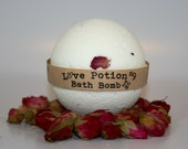 Love Potion #9 Bath Bomb, Aromatherapy Bath Bomb, 1 All Natural Bath Bomb Fizzy, Gift for lovers,  Great Stocking Stuffer!