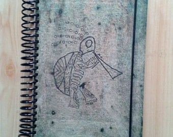 Journal, notebook, upcycled paper