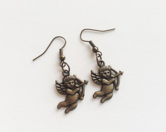 CUPID Earrings Cupid Gift Valentines Day Jewelry Valentines Day Earrings Valentines Day Gift Love Gift Love Earrings Couple Gift Heart Gift
