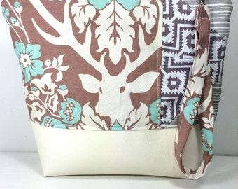 Bag purse handbag all-purpose makeup woman full Faux Leather deer
