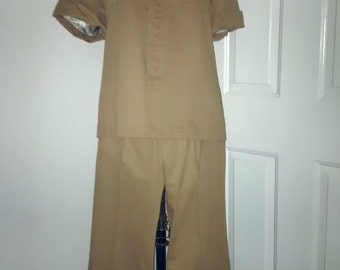 Yves Saint Laurent MEN couture 1960's-70's Safari suit one of a kind x-RARE! Made in France (not the RTW line) Saks Fifth Avenue Exclusive
