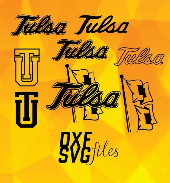 Tulsa Logo: 8 Tulsa Golden Hurricane Logos In DXF PNG And SVG Files By