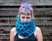 Ready to Ship Chunky AF Geo Crochet Cowl- Custom Colors Available, Crochet Neck Warmer Crochet Scarf