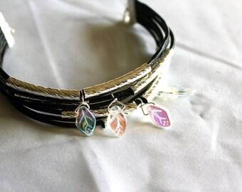 Leather Leaf Bracelet