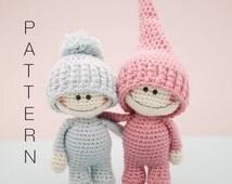 Amigurumi crochet doll - The Little Doodahs Wilbur and Bertie dolls PATTERN ONLY (English)
