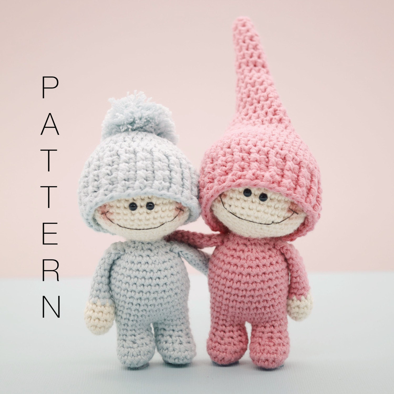Amigurumi crochet doll The Little Doodahs Wilbur and Bertie