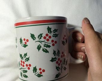 Vintage holly mug