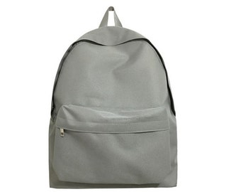 Neat Fabric Backpack (Gray)