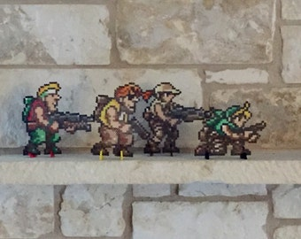 Metal Slug Perler Bead Sprites Inspired by Neo Geo Video Game