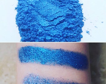Casanova - Blue, Glitter, Mineral Eyeshadow, Mineral Makeup, Pressed or Loose