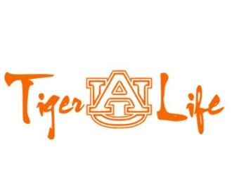 Tiger Life Vinyl Decal/Sticker. Alabama. Football. War Eagle. Auburn