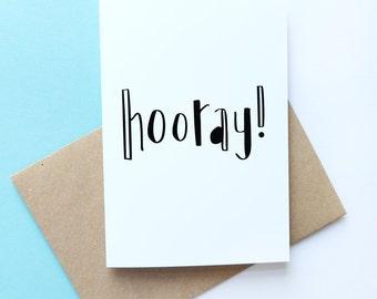Hooray! // Greeting Card
