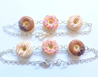 Three Donut Bracelet : Cute Food Jewellry