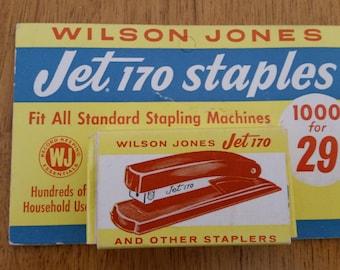 Vintage Wilson Jones Jet 170 Staples original package complete with staples No. T510