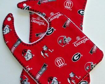 Georgia Bulldogs Bib and Burp Cloth Set