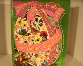 The Golden Egg Book, Margaret Wise Brown, Leonard Weisgard, 1975, 1970s Vintage Children's Book, Easter