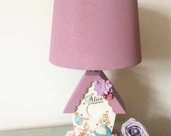 Luxury Unique alice in wonderland jewelled enchanted cottage lamp