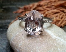Unique hallo ring Gold Pink Morganite Engagement Ring Diamond Wedding Ring Solitaire diamond Braided ring Cocktail ring Classic ring Solid