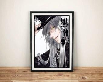 Black Butler Undertaker manga Print