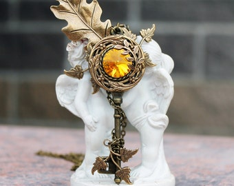 Fantasy key, fantasy necklace, swarovski necklace, key necklace