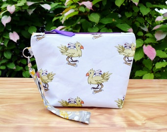 New Inspired Chocobo and Moogle Wristlet Clutch Purse