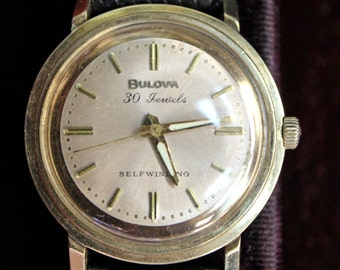 Bulova 30 Jewel Automatic 14k solid gold case Men's Watch, Bulova Box - Layaway - See item details for more info!