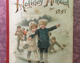 Vintage Antique Victorian Hardcover Nister's Holiday Annual for 1897