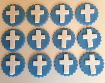Fondant Cupcake Topper Communion/Christening Theme