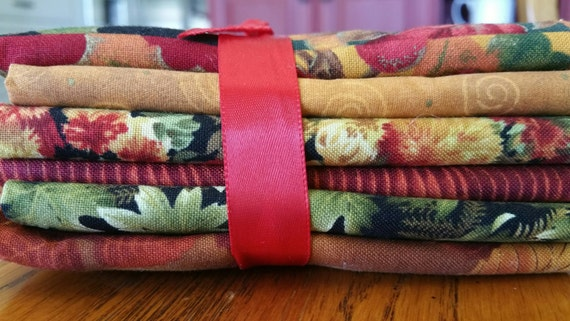 SALE Fall Fabric Fat Quarter  pk Bundle RARE Retired Applique