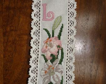 Lily Cross-Stitch Bookmark