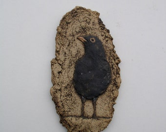 Blackbird - Ceramic Wall Plaque
