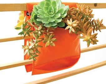 Vertical Garden Pocket Planter - Invivo small saddle - Orange