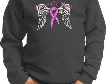 Kid's Breast Cancer Awareness Sweatshirt Heaven Can Wait Sweat Shirt 15805-PC90Y