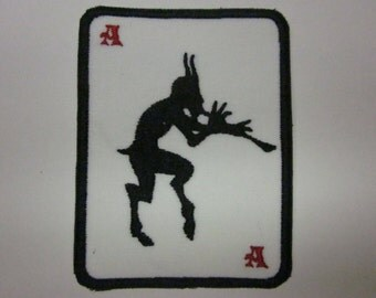 Ace Demon Piper Flute Pan Poker Taro Card Iron or Sew On Patch