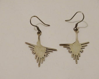 Vintage Sterling Bird Earrings.