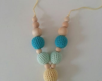 "Nursing necklace ""aquamarine Crayon"""