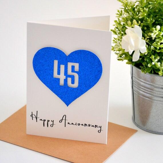 Sapphire Wedding Anniversary Gifts: Sapphire Wedding Anniversary Card Gift For Husband Wife