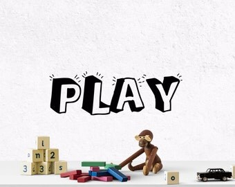 play wall art play wall decal playroom decor play decal play - Wall Decals