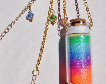 Layered Sand in a Bottle Necklace