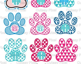 12 Paw Print Svg cutting file, paw print ,animlas svg, Designs SVG, DXF, Cricut Design Space, Silhouette Studio,Digital Cut Files