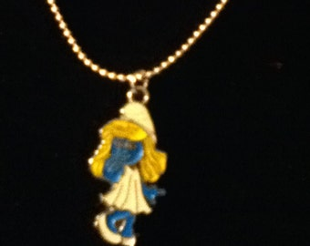 Smurfette necklace