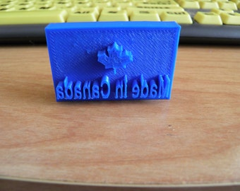 3D Printed Soap Stamp-Made In Canada