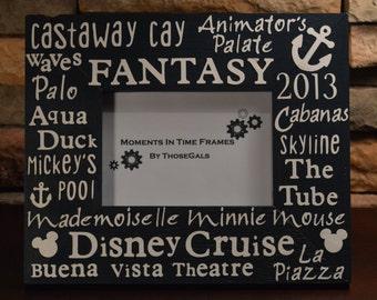 Disney Cruise Fantasy or Dream Typography Frame