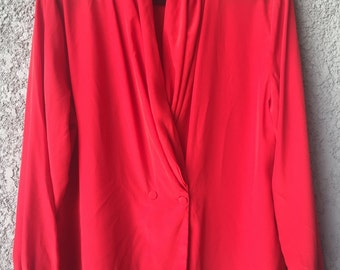CLEARANCE Red Eva Laurel blouse